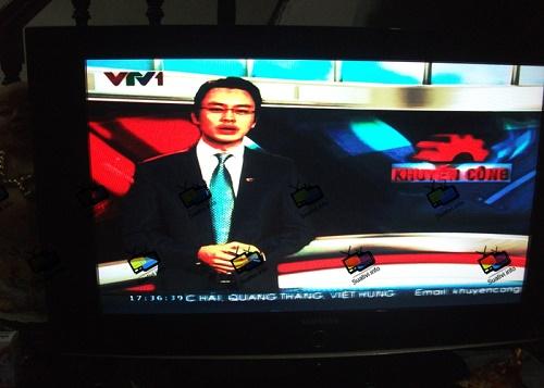 tivi bị nhòe màu do hư t-com