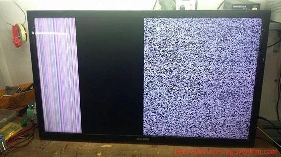 sửa tivi bị sọc chỉ hỏng panel